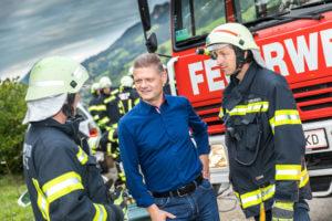 Andreas Hanger bei der Freiwilligen Feuerwehr Ybbsitz