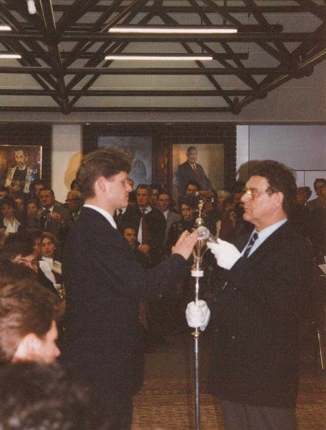 Sponsion an der Wirtschaftsuniversität Wien (1993)